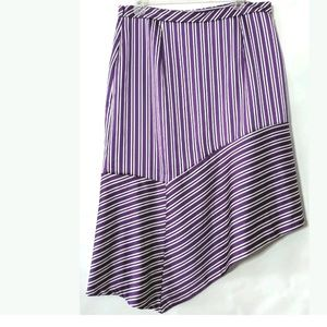 Banana Republic Skirt Size 12 Asymmetrical Purple